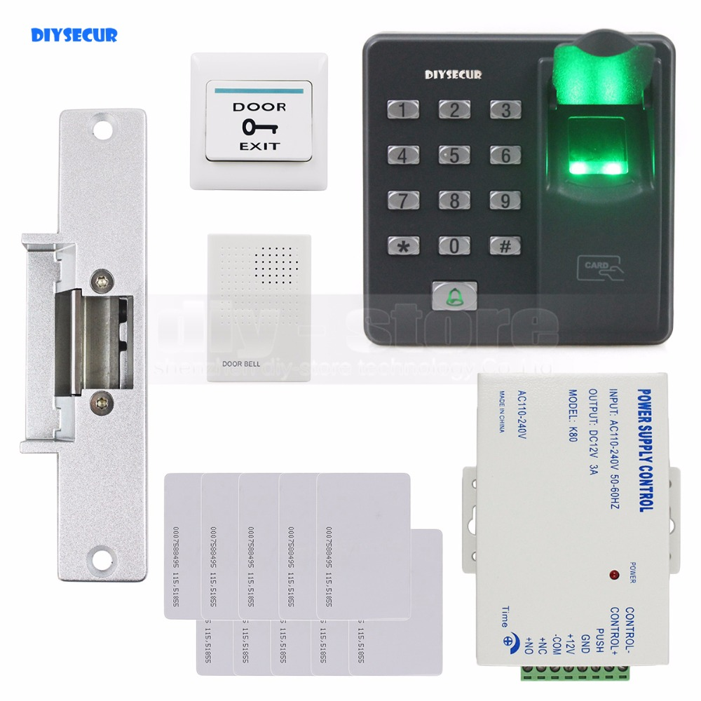 Keypad Access K2000 Wiring Diagram Diysecur Biometric Fingerprint Rfid 125khz Password Door Control System Kit Strike Lock In Kits From Security Protection On