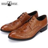 Итальянский дизайн мужская обувь на шнуровке из натуральной кожи мужская формальная обувь оксфорды офисные Свадебные модельные туфли вече