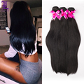 7A Brazilian Virgin hair Straight 3Bundles Brazilian Virgin Hair Extension Human Hair Weave Remy Queen Hair Store