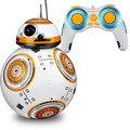 Оптовая на складе Star Wars RC BB-8 Робот Звездные войны 2.4 Г пульт дистанционного управления BB8 робот умный маленький шарик Оригинальной Коробке Дети игрушки