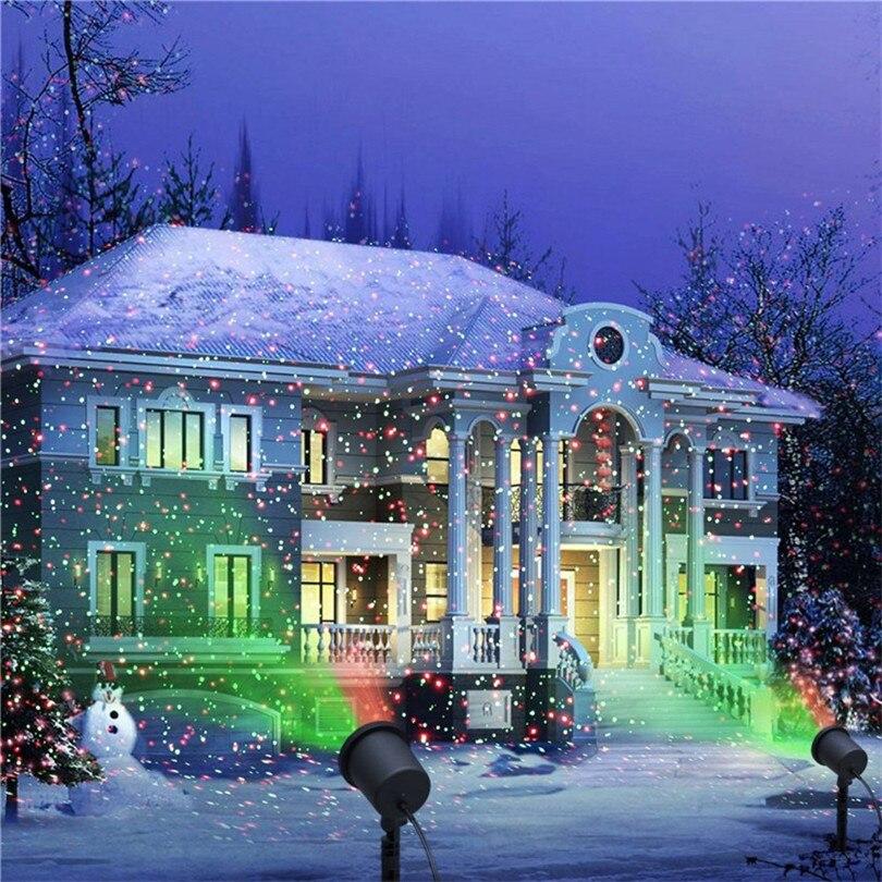Trecaan открытый перемещение полный Sky Star Рождество лазерный проектор лампы зеленый и красный светодиод свет этапа открытый пейзаж газон сад б...