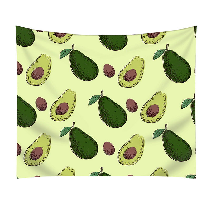Urijk Avocado Pattern Printing Tapestry Beach Towel Warm Sofa Bed Blankets Living Room Home Beds Throws Fleece Blanket Bedspread