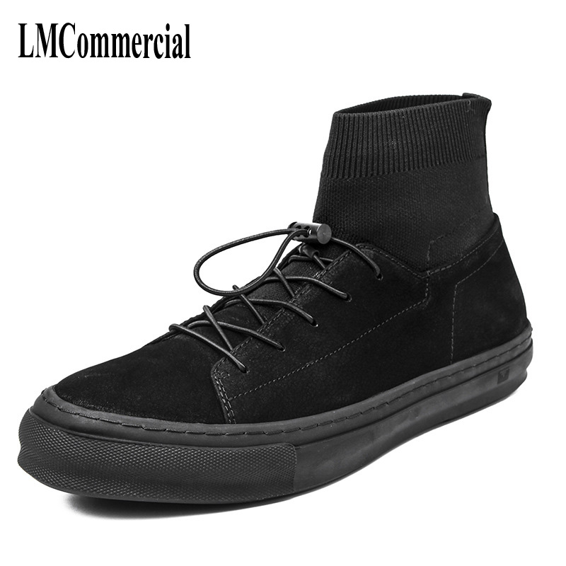 Socks shoes men pedal Kobron shoes breathable stretch socks shoes fashion casual boots men breathable sneaker fashion British 2017 new autumn winter british retro men shoes zipper leather breathable sneaker fashion boots men casual shoes handmade