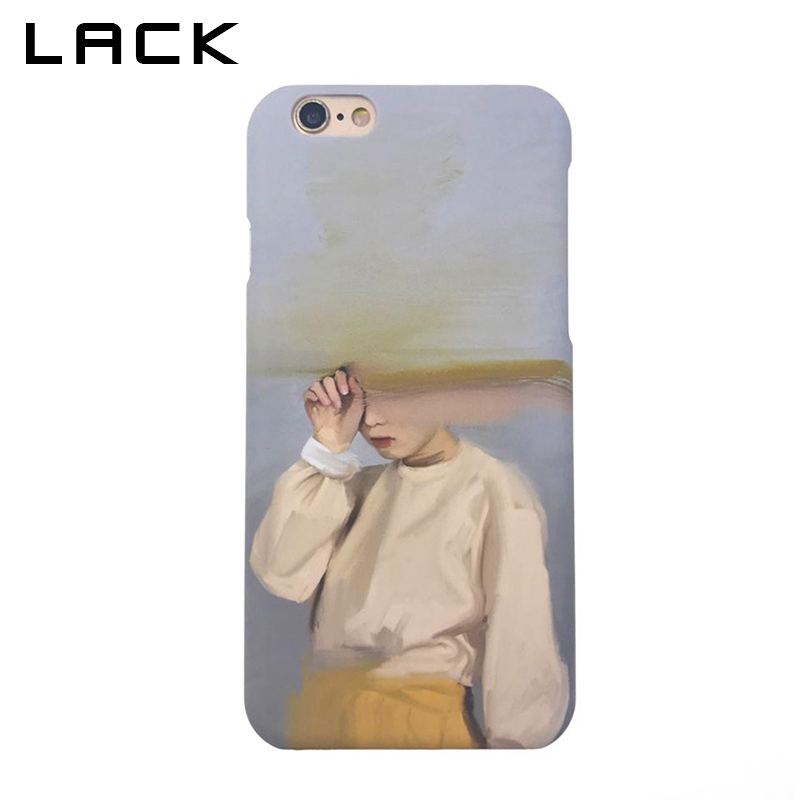 Galleria fotografica LACK Fashion Hard PC Frosted Phone Case For iphone 6 Case Abstract Art Girl Sand Painting Back Cover For iphone 6S 6 Plus Cases
