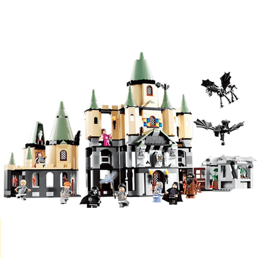 16029 Model Building Kits Compatible with LegoINGL Harry Potter Bricks Magic Hogwort Castle 3D Blocks Model Building Toy a toy a dream lepin 15008 2462pcs city street creator green grocer model building kits blocks bricks compatible 10185