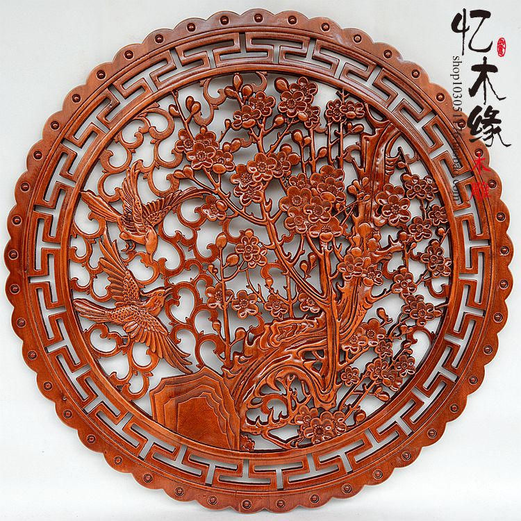 Dongyang antique wood carving Pendant hanging wall screen Chinese wood carving camphorwood TV background wallDongyang antique wood carving Pendant hanging wall screen Chinese wood carving camphorwood TV background wall