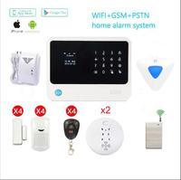 433 mhz WiFi controle de APLICATIVO de alarme sem fio GSM home security assaltante intruder alarm siren detector de gás detector de fumaça gsm wi fi|sensor sensor|alarm appsensor control -