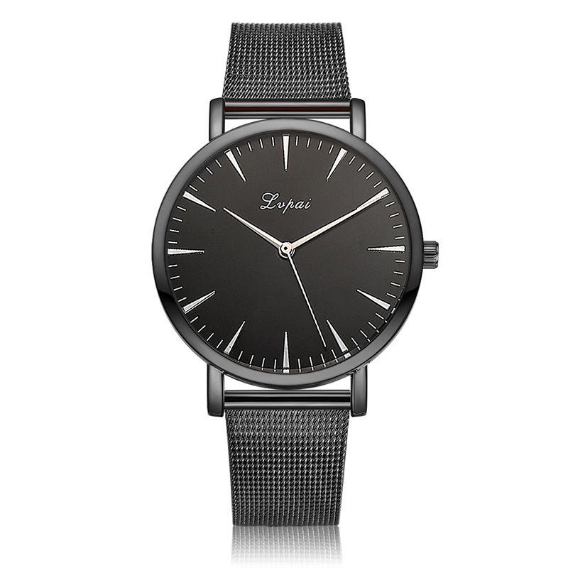Fashion Ladies Stål Band Quartz Armbandsur Armbandsur Med Klocka - Damklockor