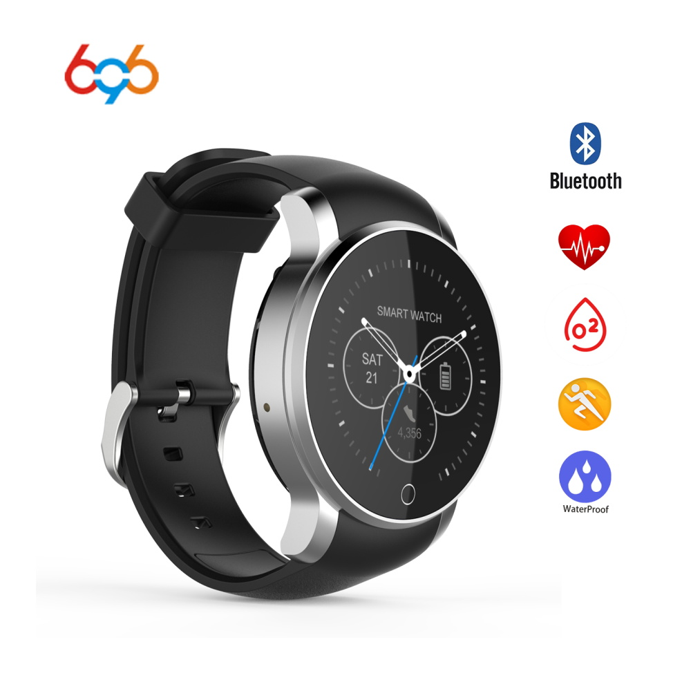 696 SMA 09 Waterproof Brand Smartwatch Bluetooth Heart Rate Monitor Sport Watch Alarm Phonebook Voice Record Android IOS