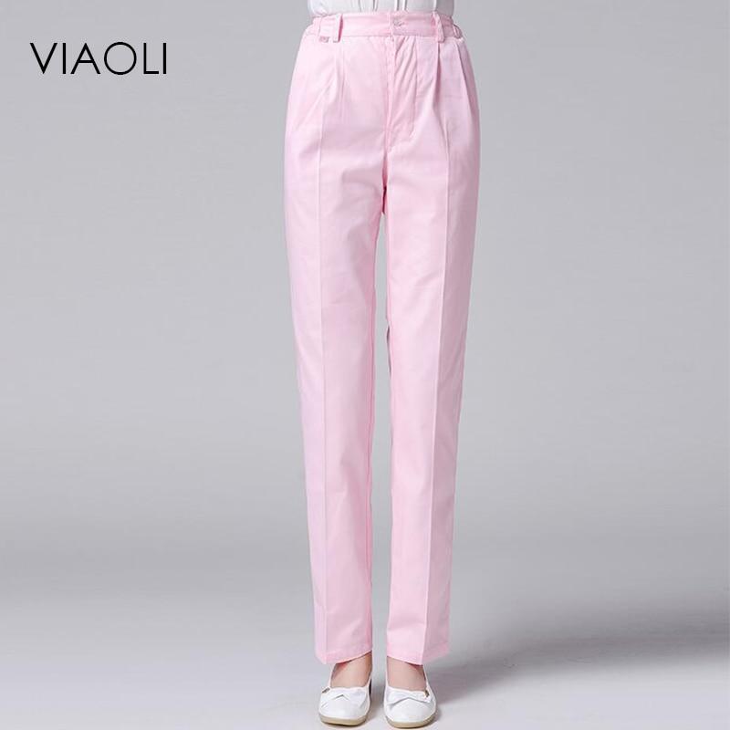 Viaoli Hospital Medical Long Pants Fashionable Design Slim Fit Scrubs Beauty Salon Nurse Work Pants