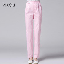Viaoli Hospital Medical long Pants Fashionable Design Slim Fit Scrubs Beauty Salon Nurse work pants(China)