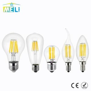 Antique Retro Vintage LED Edison Bulb E27 LED Bulb E14 Filament Light 220V Glass Bulb Lamp 4W 8W 12W 16W Candle Light Lamp(China)