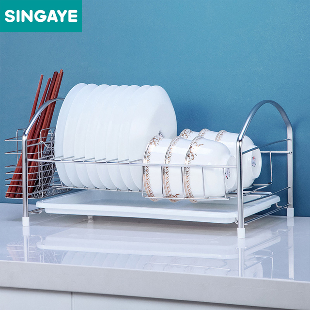 Singaye Dish Rack Set Kitchen Shelf 304 Stainless Steel Plate Dish