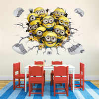 Minions Despicable Me 3D Wall Sticker Decal Decor Poster Mural removable B541