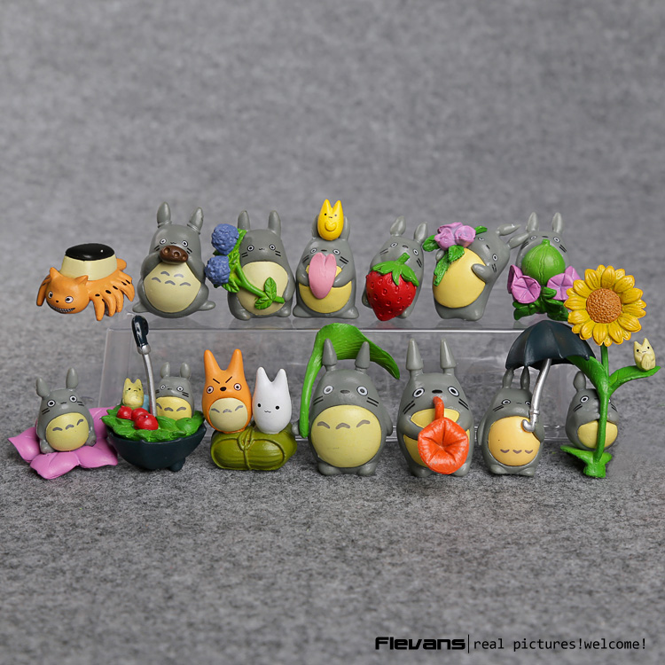 Anime Cartoon My Neighbor Totoro Lovely Mini PVC Figures Toys Dolls Kids Toys Gifts 2-4cm 14pcs/set MHFG052