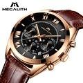 MEGALITH модные деловые часы для мужчин спортивные кварцевые часы для мужчин s часы лучший бренд класса люкс Водонепроницаемые кожаные часы Relogio Masculino - фото