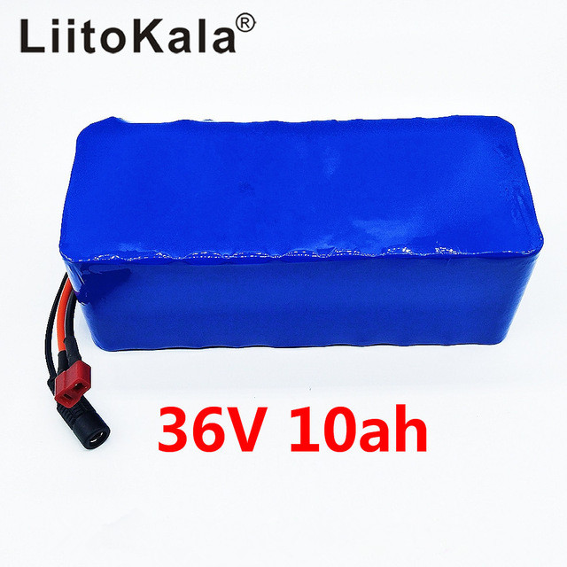 Liitokala 36V 10ah High Capacity Lithium Battery pack liitokala 36v 6ah 10s3p 18650 rechargeable battery pack modified bicycles electric vehicle 36v protection with pcb