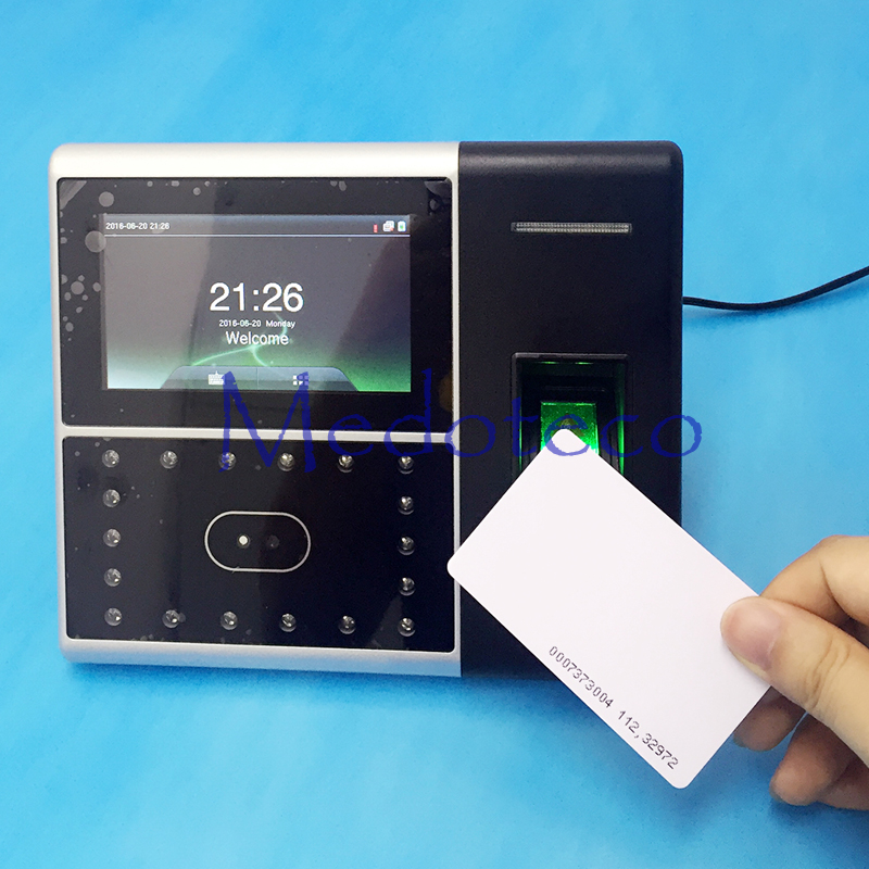 TCP/IP Biometric Face & Fingerprint Time Attendance 125khz Rfid Time Clock Face Attendance System And Access Control Iface 302