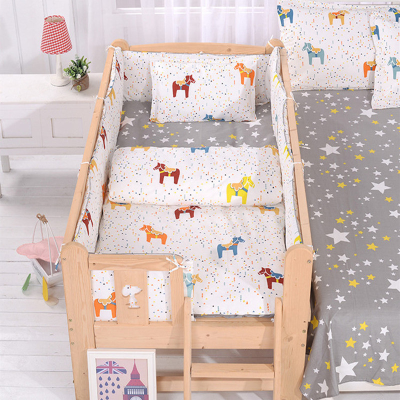 Cotton Baby Quilt Cover 150*120cm Nordic Style Baby Quilt Cover Without Filling 1pc Skin-friendly Newborns Duvet Cover Cartoon