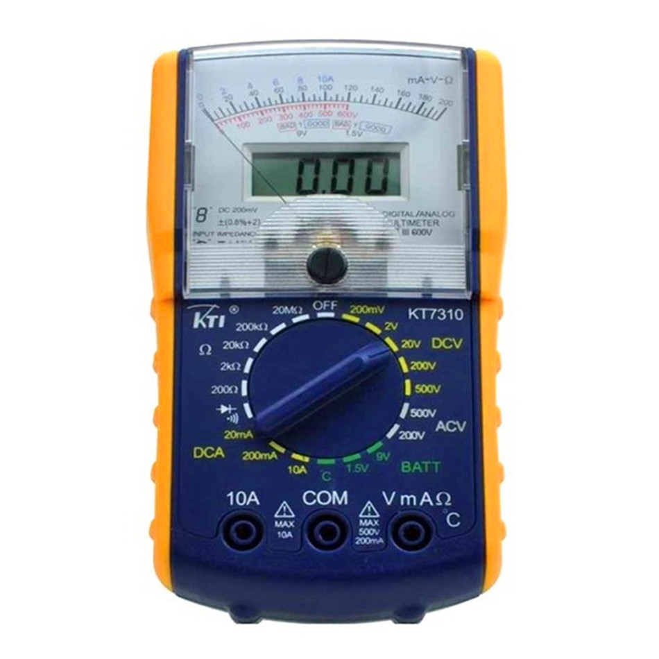 KT-7310 original authentic precision Digital Dual Display Analogue Multimeter Tester hot dual lcd display precision digital skin care tester moisture oil content analyzer monitor face care ts001w 3233