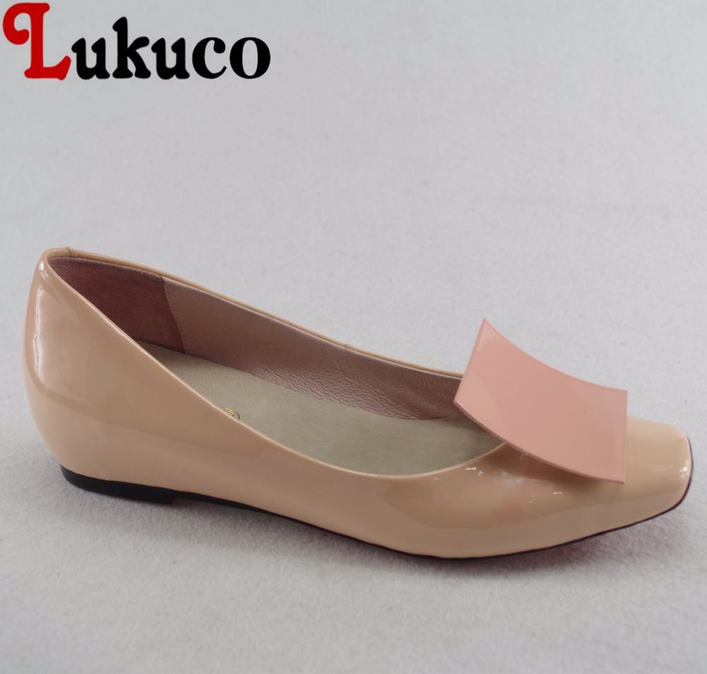 Lukuco sweet pure color women appliques casual pumps microfiber made patent leather low heel shoes with pigskin inside lukuco pure color women mid calf boots microfiber made buckle design low hoof heel zip shoes with short plush inside