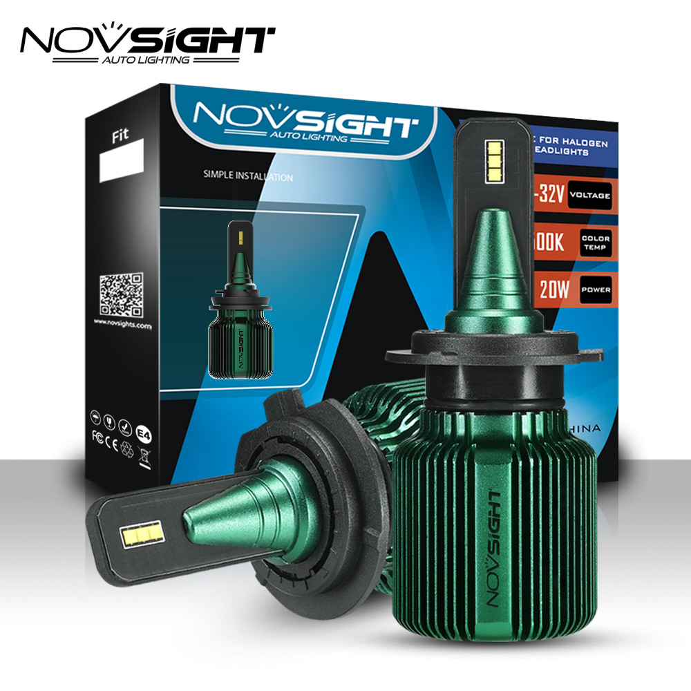 NOVSIGHT 2pcs Car Headlight H4 h7 led Bulb Car fog light H8 H11 H13 HB3 9005