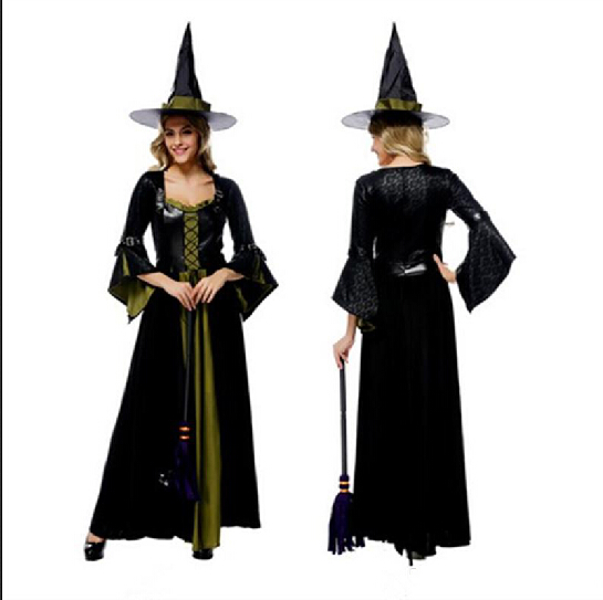 Top Grade Luxury Witch Long Dress Sexy Cosplay Halloween Costumes Uniform Temptation Stage Performance Clothing Hot Selling ..