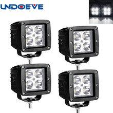 LED WORK LIGHT 4x4 DAY TIME RUNNING LIGHTS SPOT FLOOD OFFROAD 4x4 TRUCK ATV REVERSE BACUP Tail light 12/24v Car fog lamp(China)