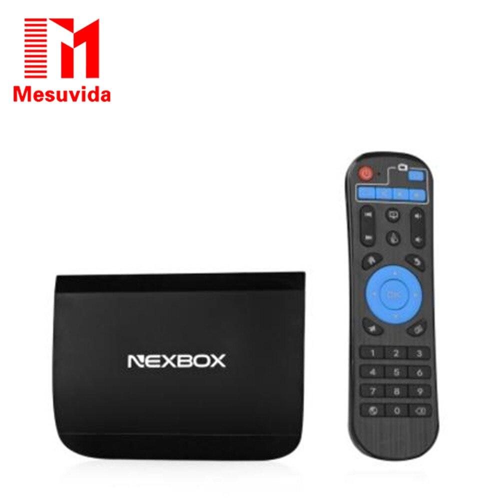 ФОТО MESUVIDA NEXBOX A1 TV BOX Set Top Box 2G RAM 16 ROM Amlogic S912 Octa Core Android 6.0 2.4G + 5G Dual WiFi 4K x 2K Bluetooth 4.0