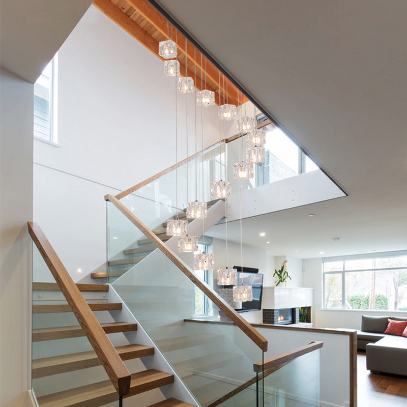 Long Led Cone Pendant Lights Double Stair Pendant L& Stairwell Pendant Light Fixture glass pendant light for Dining Room-in Pendant Lights from Lights ... & Long Led Cone Pendant Lights Double Stair Pendant Lamp Stairwell ... azcodes.com