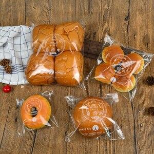 500 шт. Бесплатная доставка, прозрачная Герметичная сумка для хлеба, клейкие пакеты для печенья, простая сумка для выпечки, сумка для упаковки...
