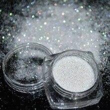 1Box 5g Holographic Glitter Powder Shining Sugar Nail Dust UV Gel Polish Acrylic for Art Decorations FPB001