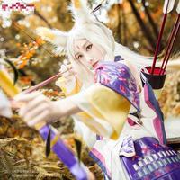 Onmyoji Japanese Hakurou Cosplay White Wolf Idolized Kimono Costume Japanese Uniform Game Cosplay