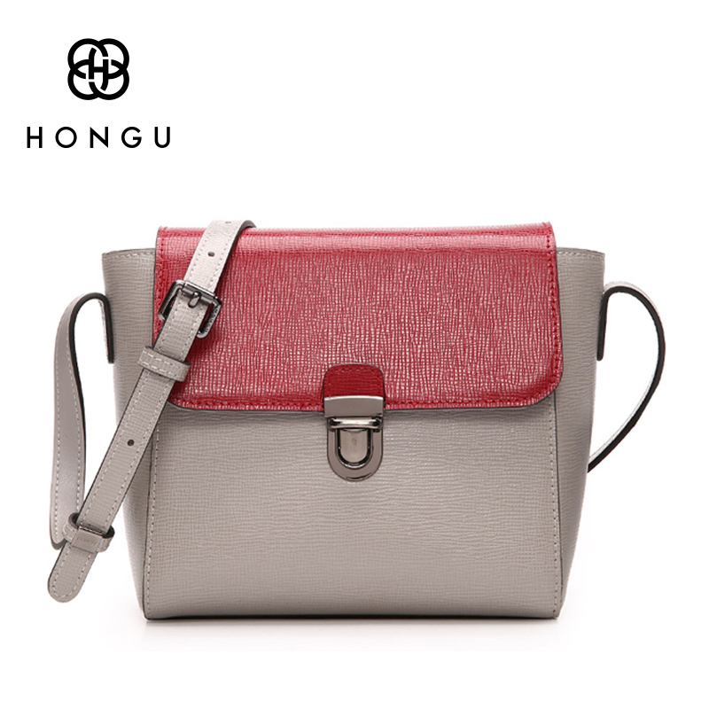 HONGU Luxury Crossbody Messenger Bags Handbags Women Famous Brands Fashion Leather Shoulder Bag Girls Casual Cross Body Purse sgarr fashion pu leather casual tote bag famous brands small women embroidery handbag shoulder bags luxury female crossbody bag
