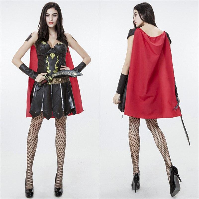 Plus size Ladies Xenia Gladiator Warrior Princess Roman Spartan Fancy Dress Costume Cape