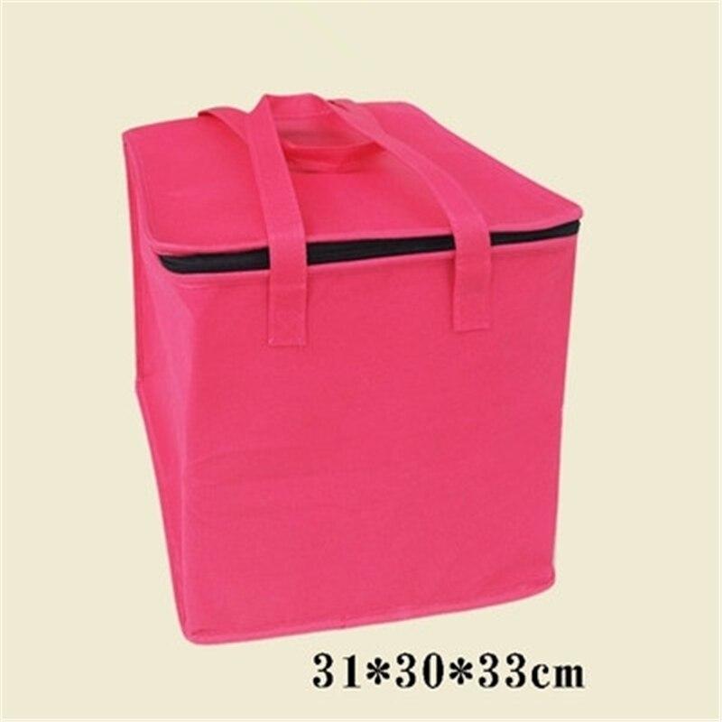 Freies Verschiffen Große Isoliert Picknick Kühler Taschen Für Kuchen Baumwolle Pink Lunchpaket Thermische Taschen für Lebensmittel Handtaschen LYBW001