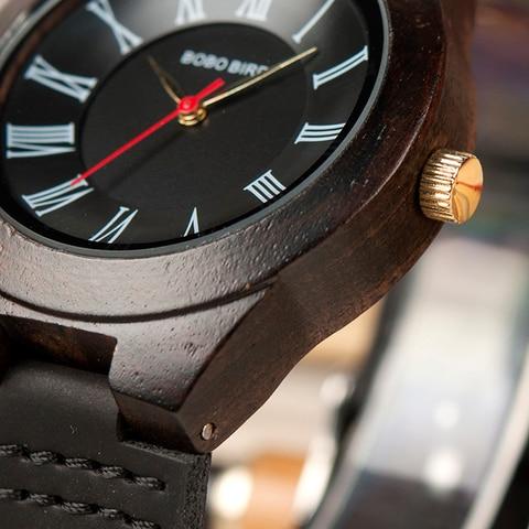BOBO BIRD Q15 Classic Leather Wood Watch Couples Quartz watches for Lovers reloj pareja hombre y mujer Karachi