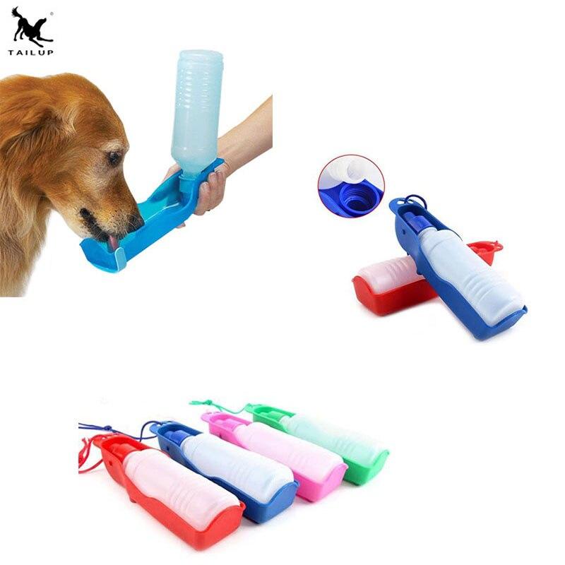 Foldable Plastic Dog Cat Drinking Water Feeder Outdoor: Dog Travel Water Bottle Dispenser Foldable Plastic Dog Cat
