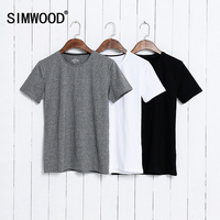 Summer Brand Men S Short Sleeved Cotton T Shirt Men Shirt Solid Color Casual O Neck