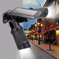 Solar Powered PIR Motion Sensor Dual Head Spotlight Adjustable Brightness Waterproof LED Auto On/Off Energy saving Garden lamp