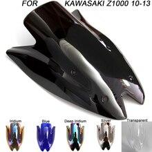 ABS Windscreen For Kawasaki Z1000 2010 2011 2012 2013 Double Bubble Motorcycle Windshield Iridium Wind Deflectors