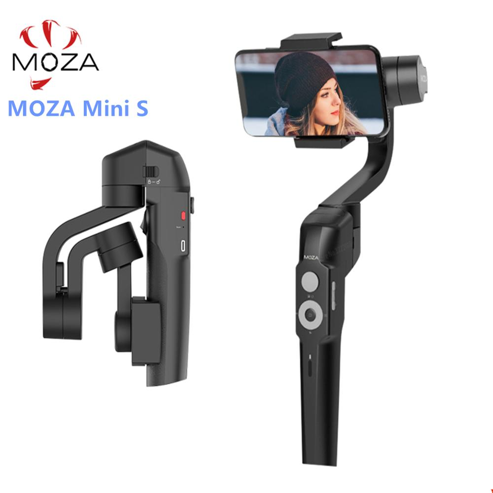 MOZA MINI-S 3-Axis Foldable Pocket-Sized Handheld Gimbal Stabilizer MINI S for iPhone X Smartphone GoPro VS MINI MI VIMBLE 2