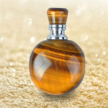 1ml tigereye perfume bottle Mini sample empty containers bottle on parfum for essential oil bottle pendant necklace