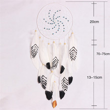 Creative Windmill Dreamcatcher House Ornaments Feathers Decoration chime garden wind backyard decor