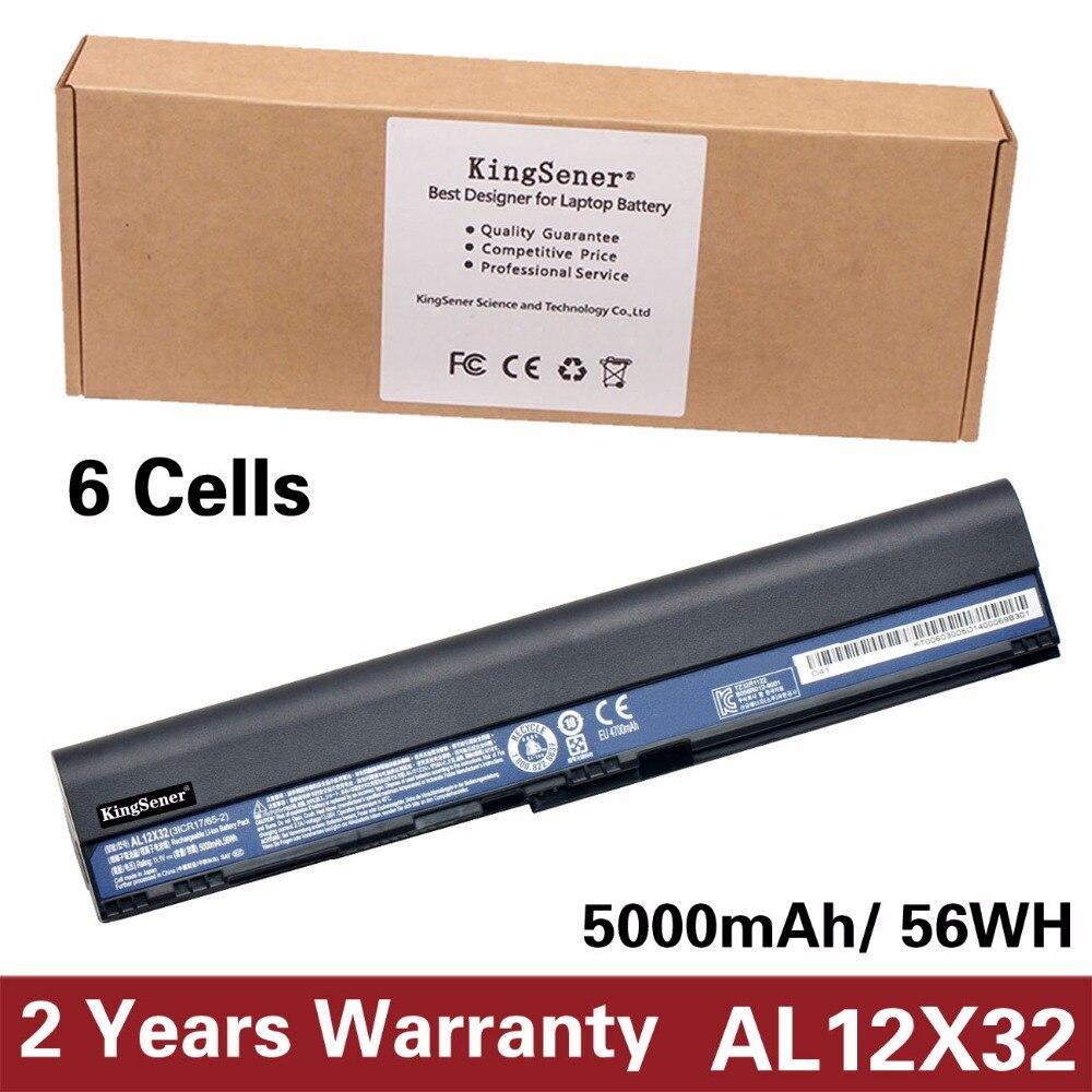 KingSener Japonais Cellulaire Nouveau AL12X32 Batterie pour Acer Aspire One 725 756 V5-171 B113 B113M AL12B32 AL12A31 AL12B31 11.1 V 5000 mAh
