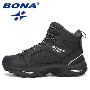 Image 4 - BONA Men Boots Anti Skidding Leather Shoes Men Popular Comfy Spring Autumn Men Shoes Short Plush Snow Boots Durable Outsole