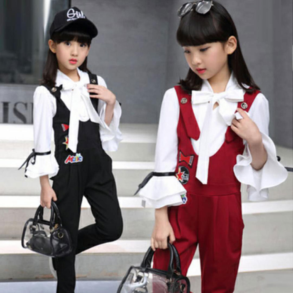 2018 New Arrivals 2PCS Baby Toddler Kids Girls Clothes Casual Fashion Tops Pants Outfits Set Spring Autumn 3T 4 6 8 10 12 Years