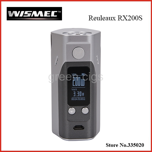 Original Wismec Reuleaux RX200S TC 200W OLED Screen Box Mod  with Upgradeable Firmware Reuleaux RX200S original wismec reuleaux rx200s 200w tc box mod