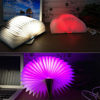 Creative 5 Colors LED Booklight Style Folding Lamp Children Reading Study Room Home Decor USB Rechargeable