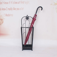 Metal umbrella rack square containing umbrella barrel floor type umbrella barrel entry gear rack